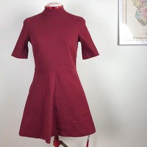 H&M Berry Textured Knit Mini Dress size 10